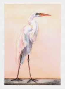 164 Sunset Egret WM